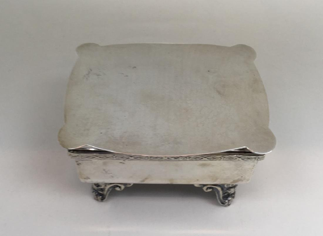 STERLING ART DECO DRESSER BOX & JEWELRY CASKET - 13