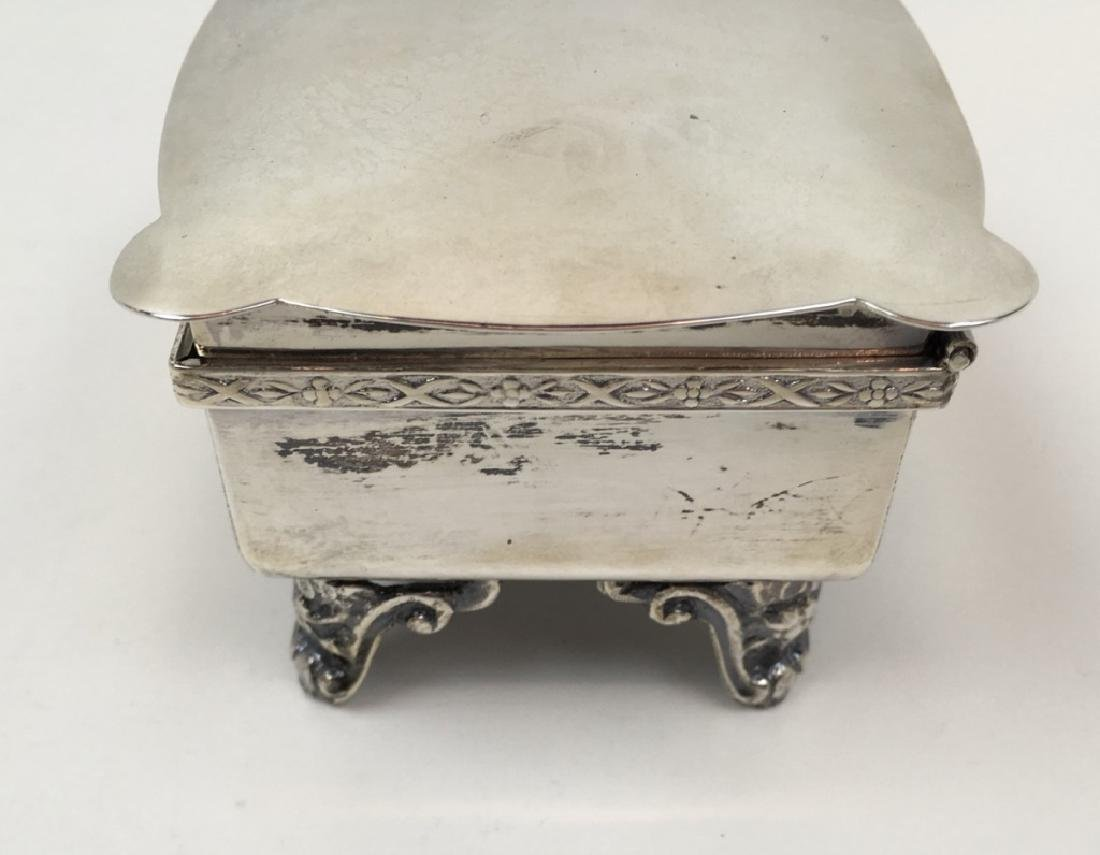 STERLING ART DECO DRESSER BOX & JEWELRY CASKET - 14