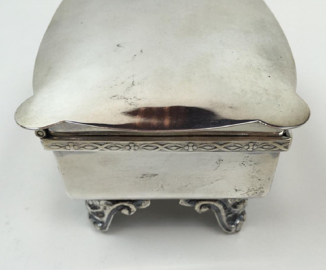 STERLING ART DECO DRESSER BOX & JEWELRY CASKET - 16