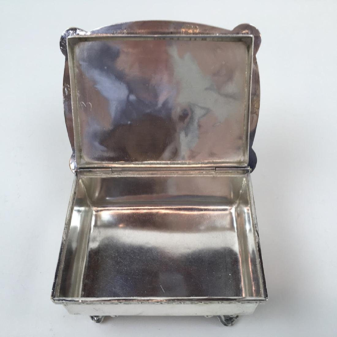 STERLING ART DECO DRESSER BOX & JEWELRY CASKET - 17