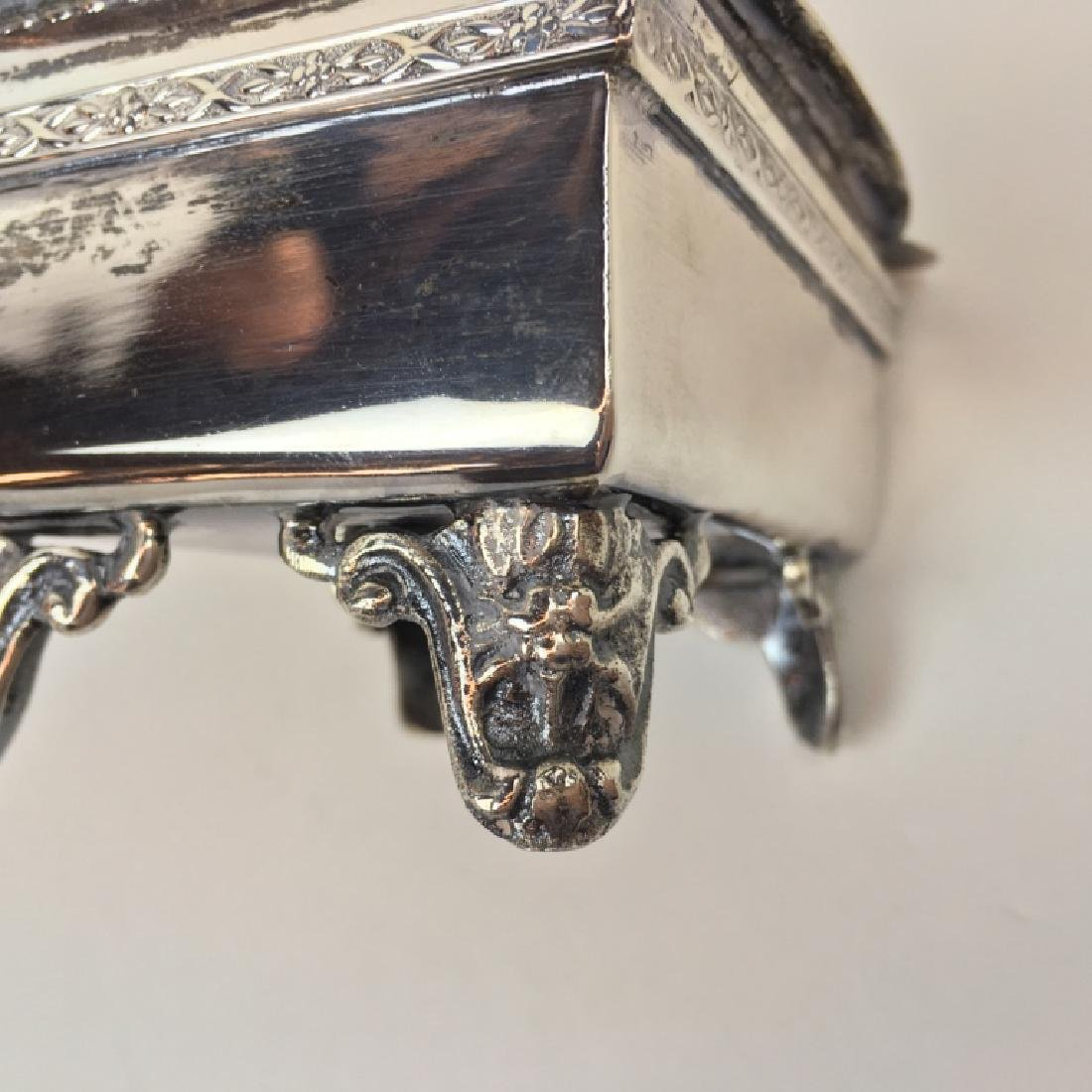 STERLING ART DECO DRESSER BOX & JEWELRY CASKET - 19
