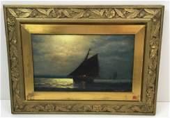 FRAMED OIL ON CANVAS - SIGNED J. G. TYLER