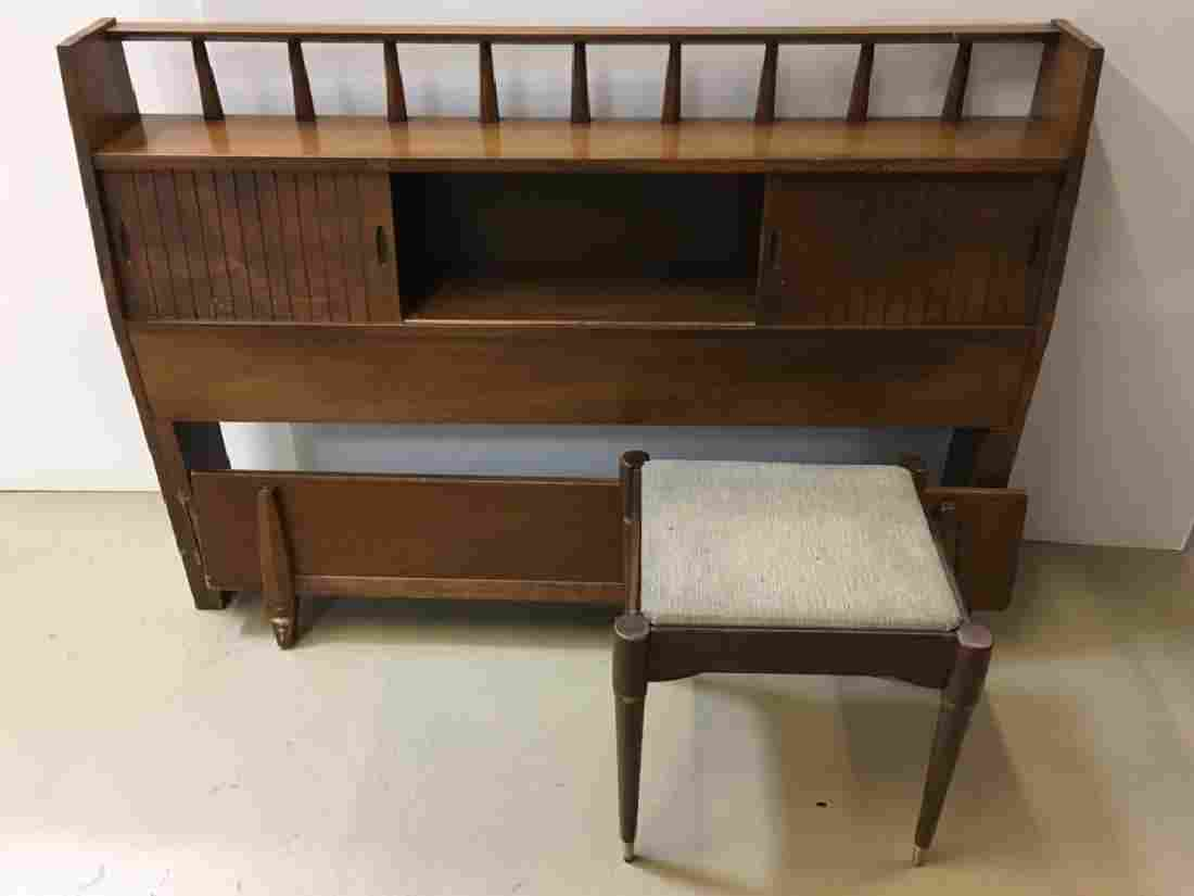 MID CENTURY MODERN SEWING SEAT / STOOL & BED
