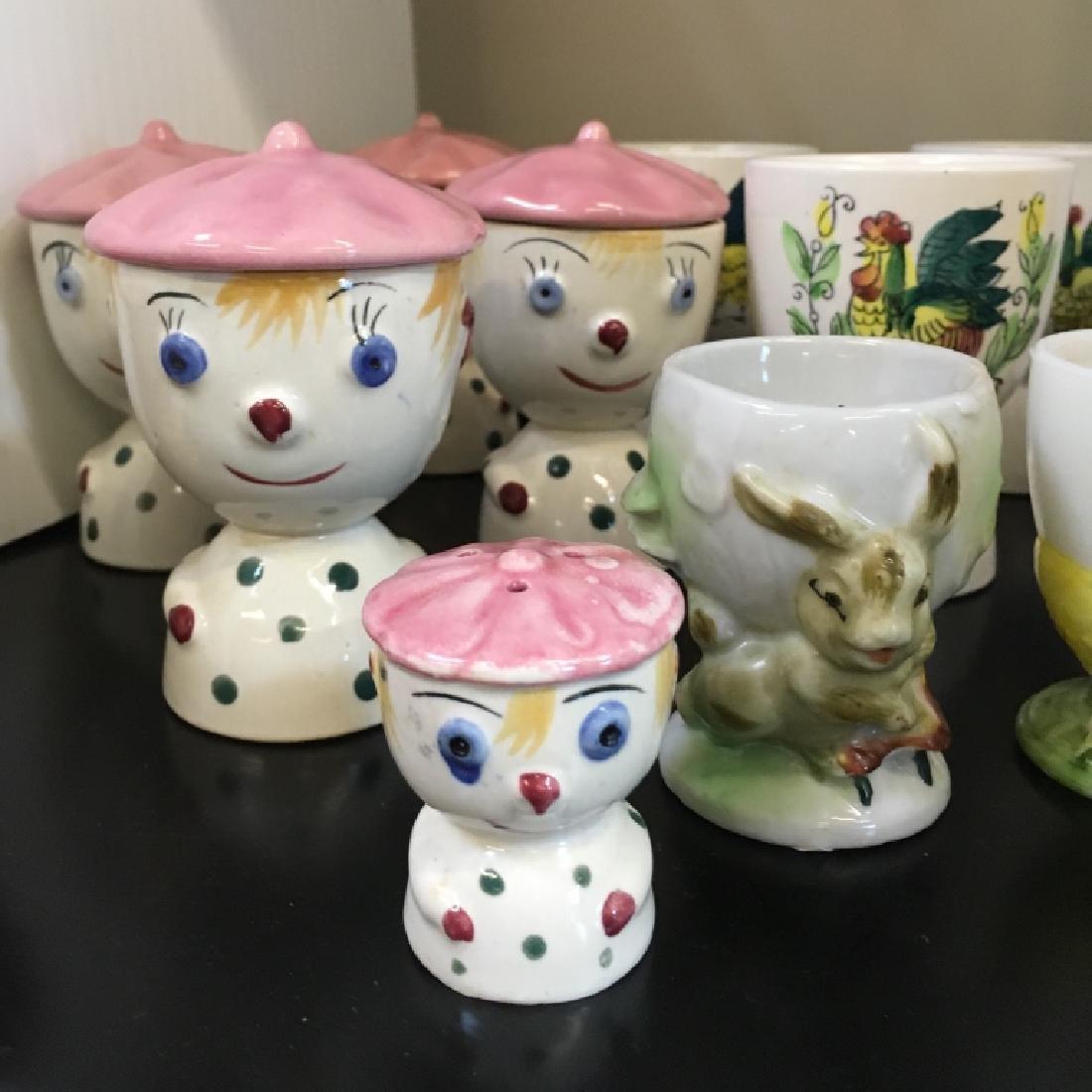 13 VINTAGE EGG CUPS - 3