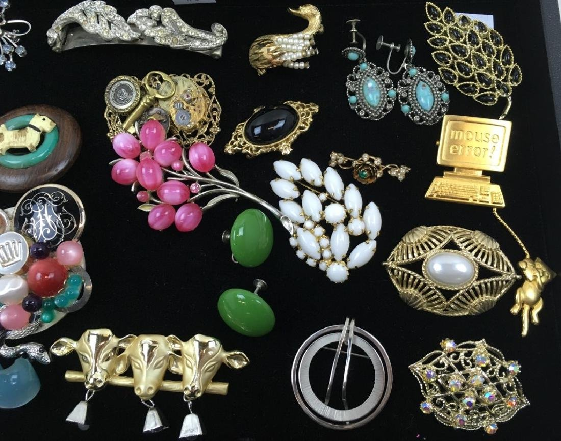 ASSORTED VINTAGE & FASHION COSTUME JEWELRY - 5