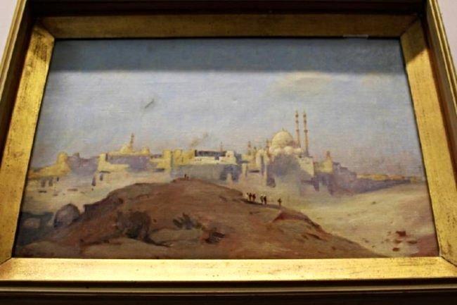 OIL ON CANVAS-MIDDLE EASTERN CITY- ATTRIB M. LONGSTRETH
