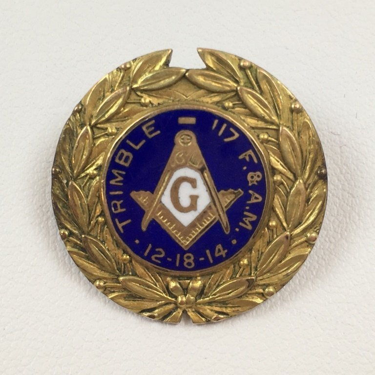 ANTIQUE MASONIC / FREEMASONRY PIN