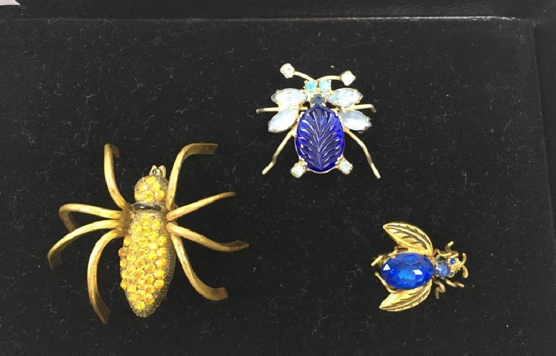 5 VINTAGE COSTUME & TESTED 10K JEWELRY PINS - 2