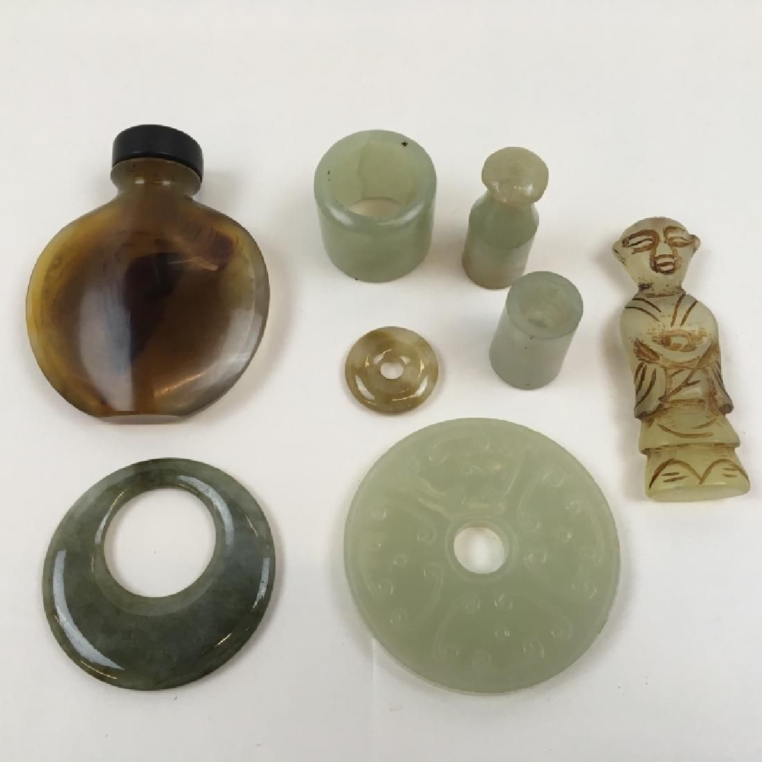 8 PCS OF CHINESE CARVED STONE