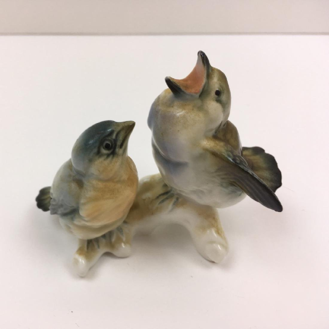 3 HAND PAINTED BIRD FIGURINES - 9