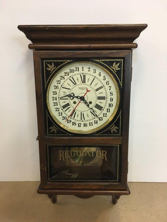 1970'S REGULATOR CLOCK BY NEW ENGLAND CLOCK