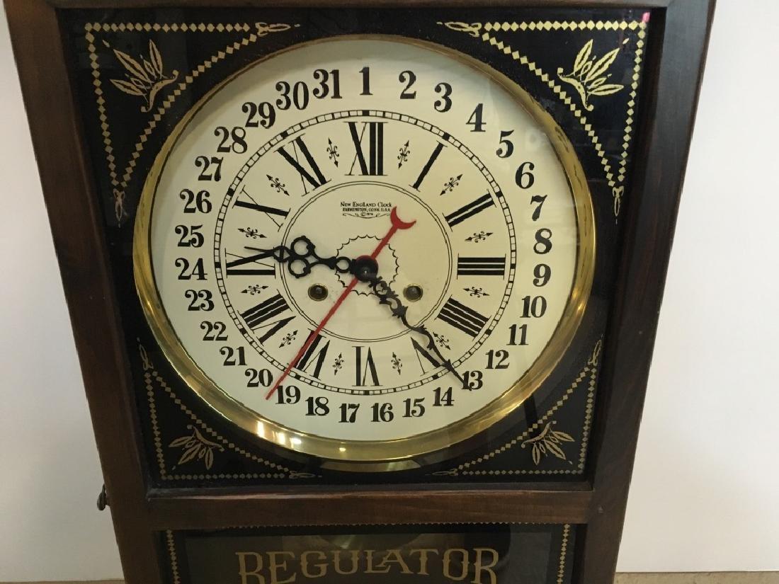 1970'S REGULATOR CLOCK BY NEW ENGLAND CLOCK - 2