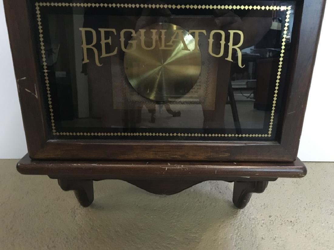 1970'S REGULATOR CLOCK BY NEW ENGLAND CLOCK - 4