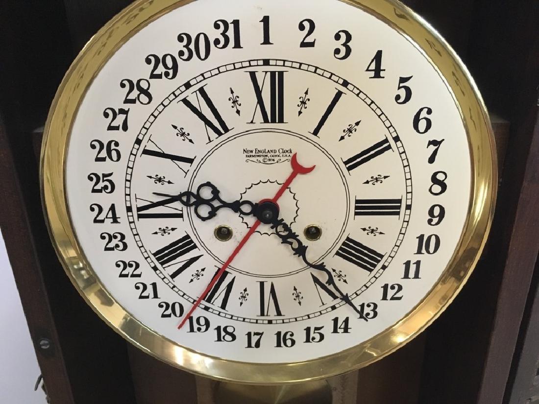 1970'S REGULATOR CLOCK BY NEW ENGLAND CLOCK - 7
