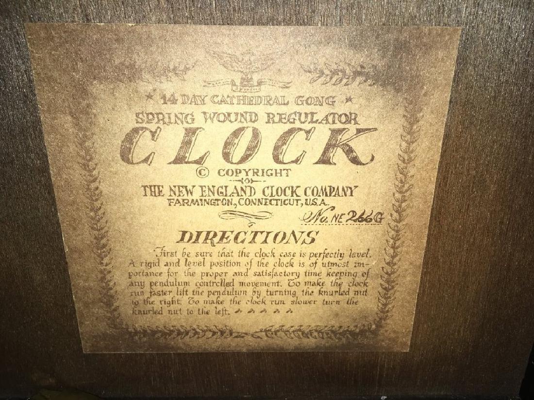 1970'S REGULATOR CLOCK BY NEW ENGLAND CLOCK - 9