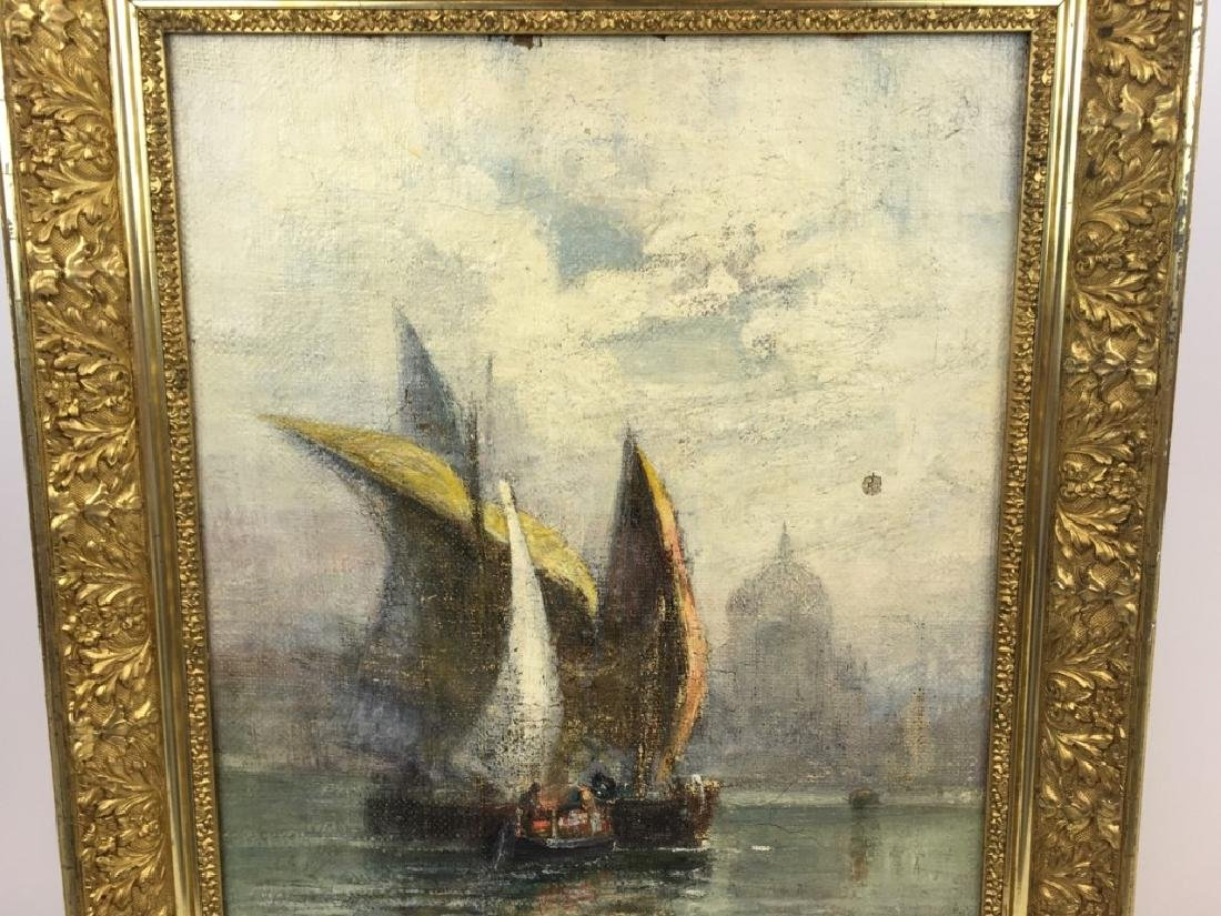 FRAMED OIL ON CANVAS SIGNED WALTER FR BROWN - 2