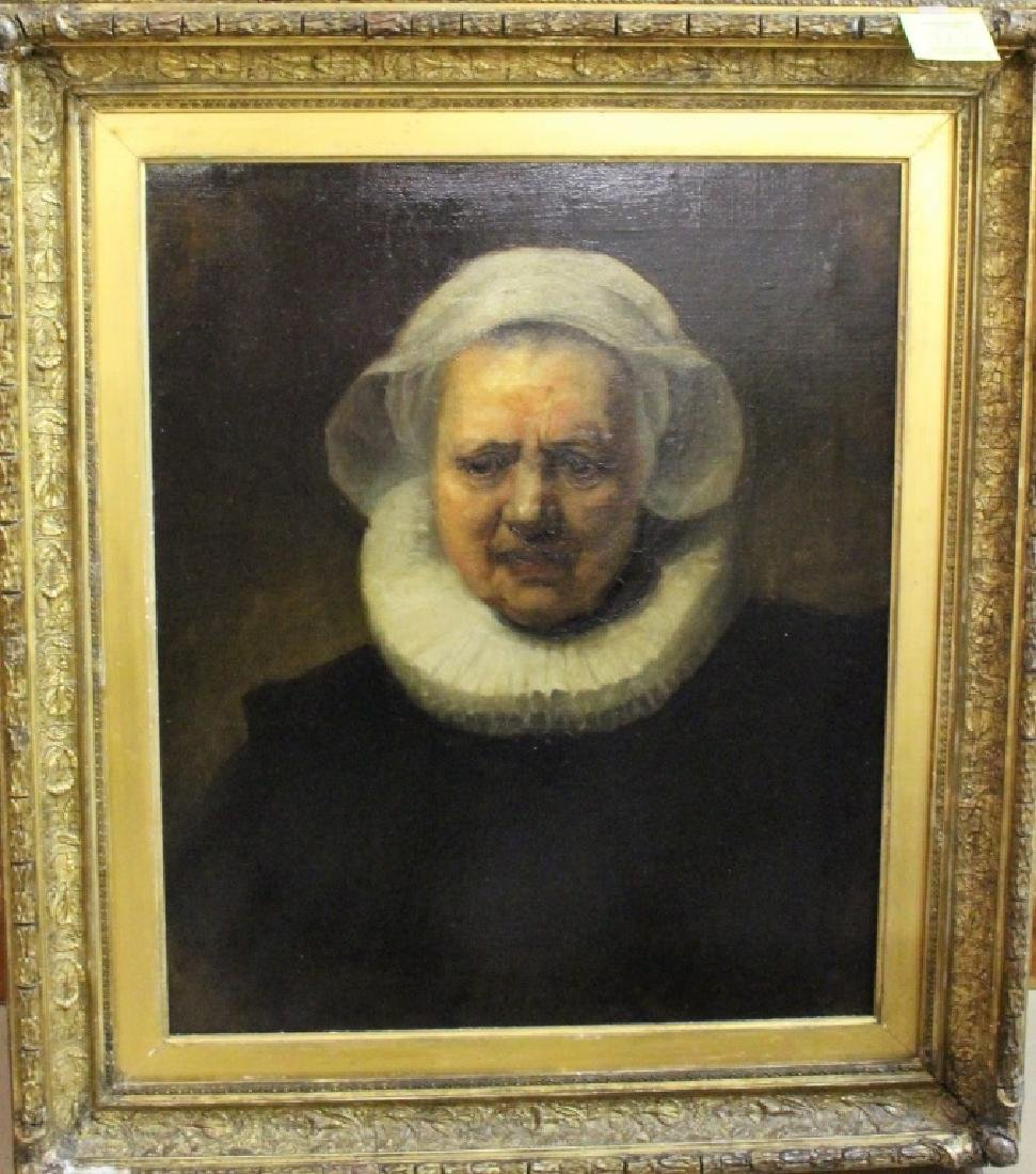 19TH C. COPY OF REMBRANDT