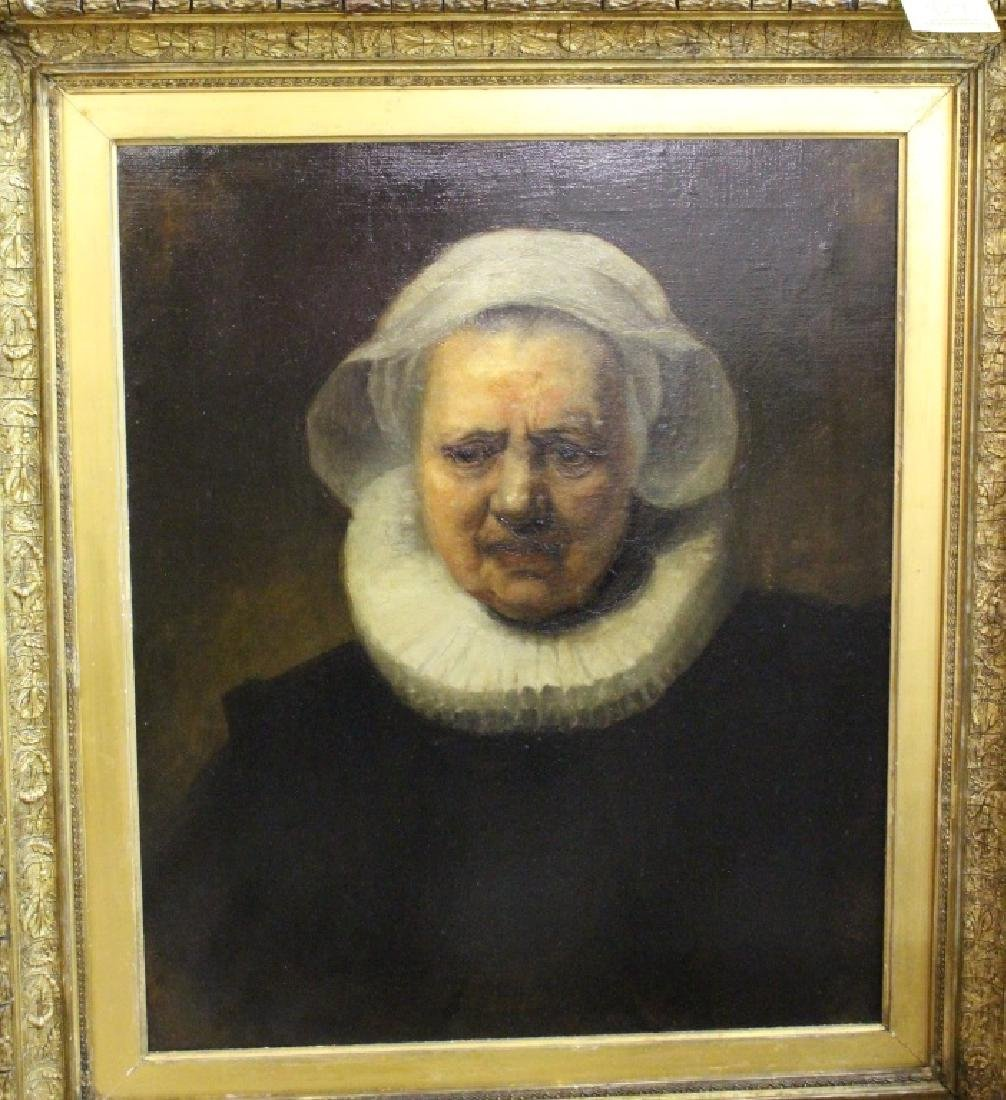 19TH C. COPY OF REMBRANDT - 2