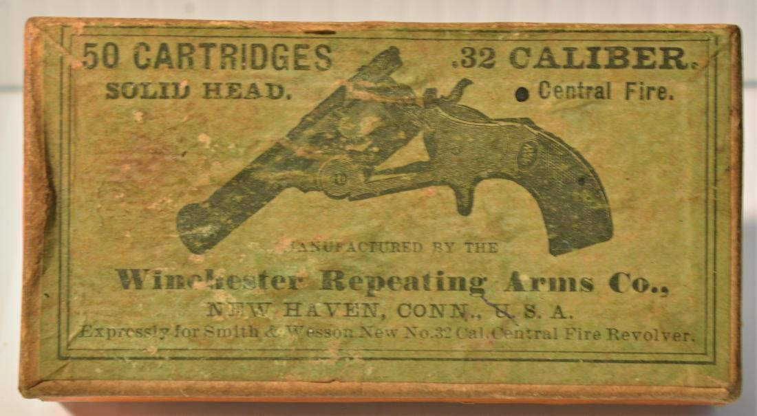 OLD WINCHESTER REPEATING ARMS .32 CALIBER BOX - 4