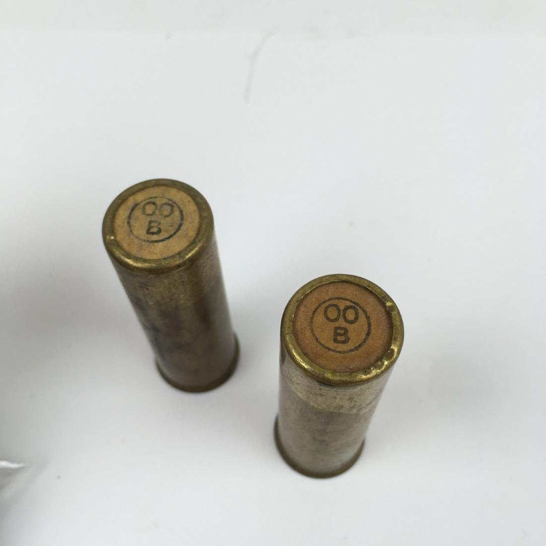 20  OLD WINCHESTER OO B 12GA  BRASS SHOTGUN SHELLS - 4