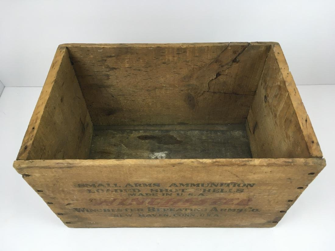TWO WOODEN AMMO BOXES - 10