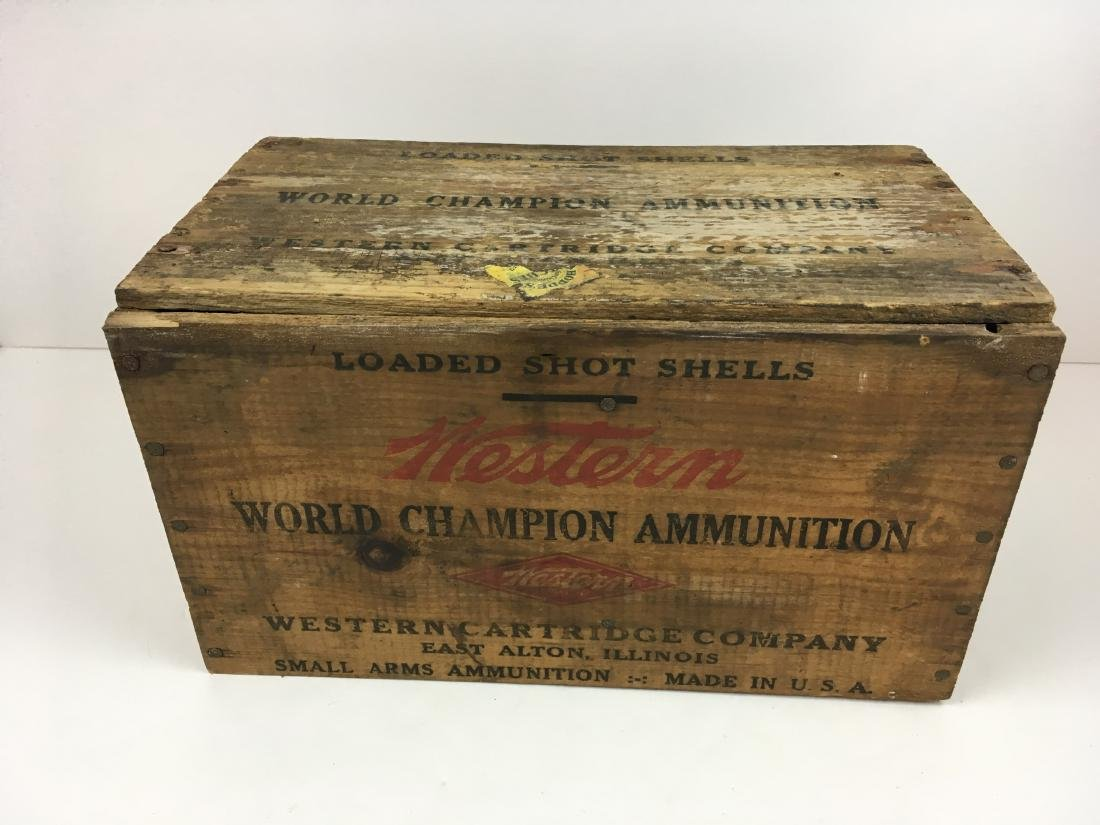 TWO WOODEN AMMO BOXES - 2