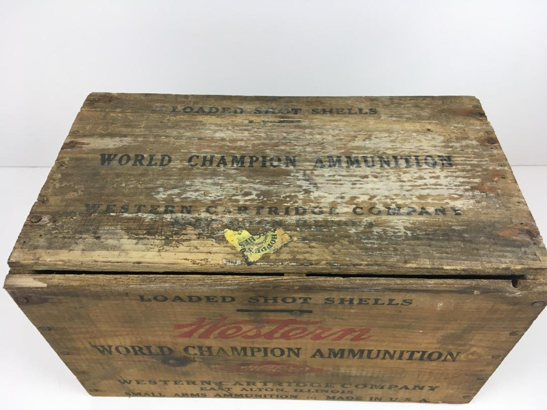 TWO WOODEN AMMO BOXES - 3