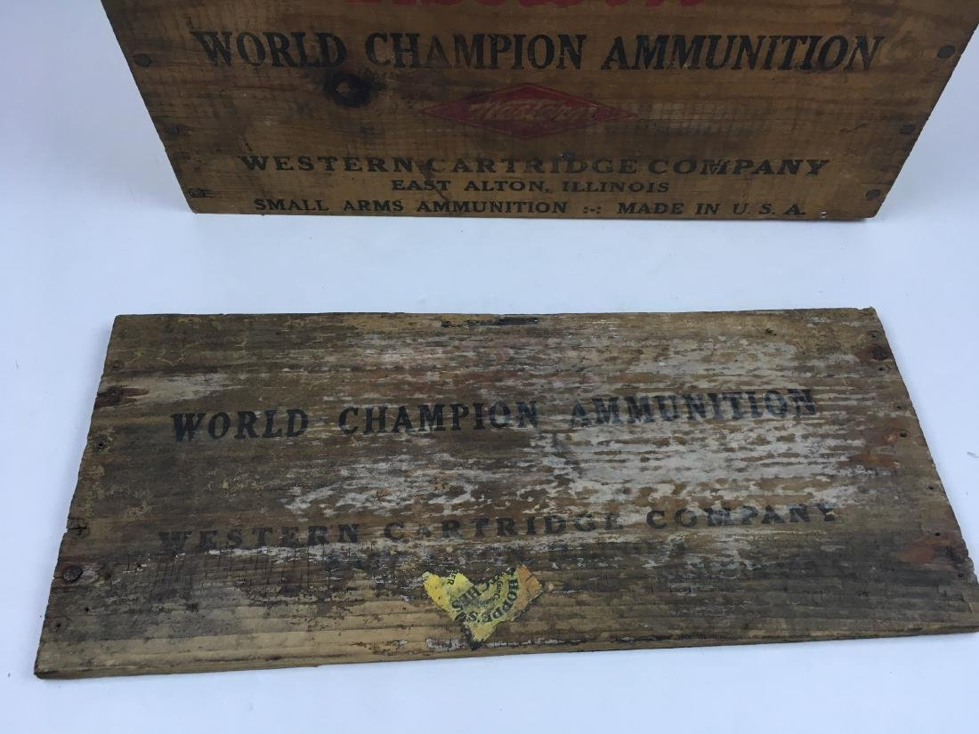 TWO WOODEN AMMO BOXES - 4