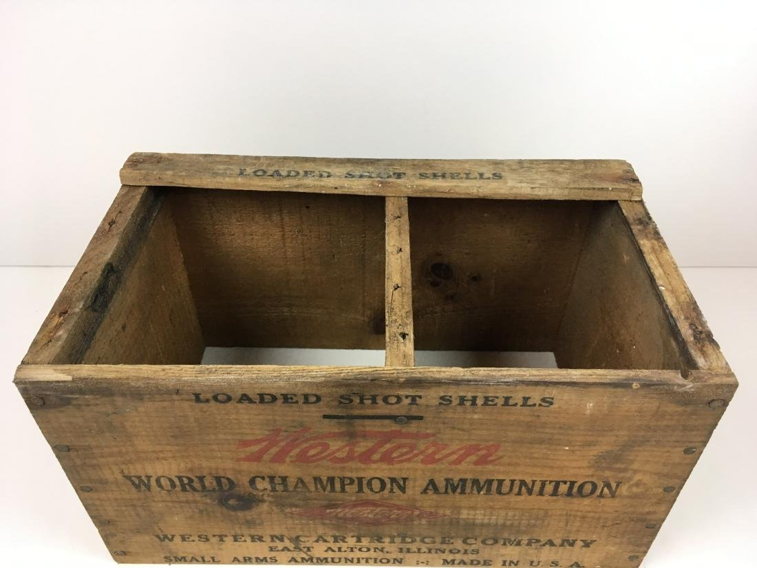 TWO WOODEN AMMO BOXES - 5