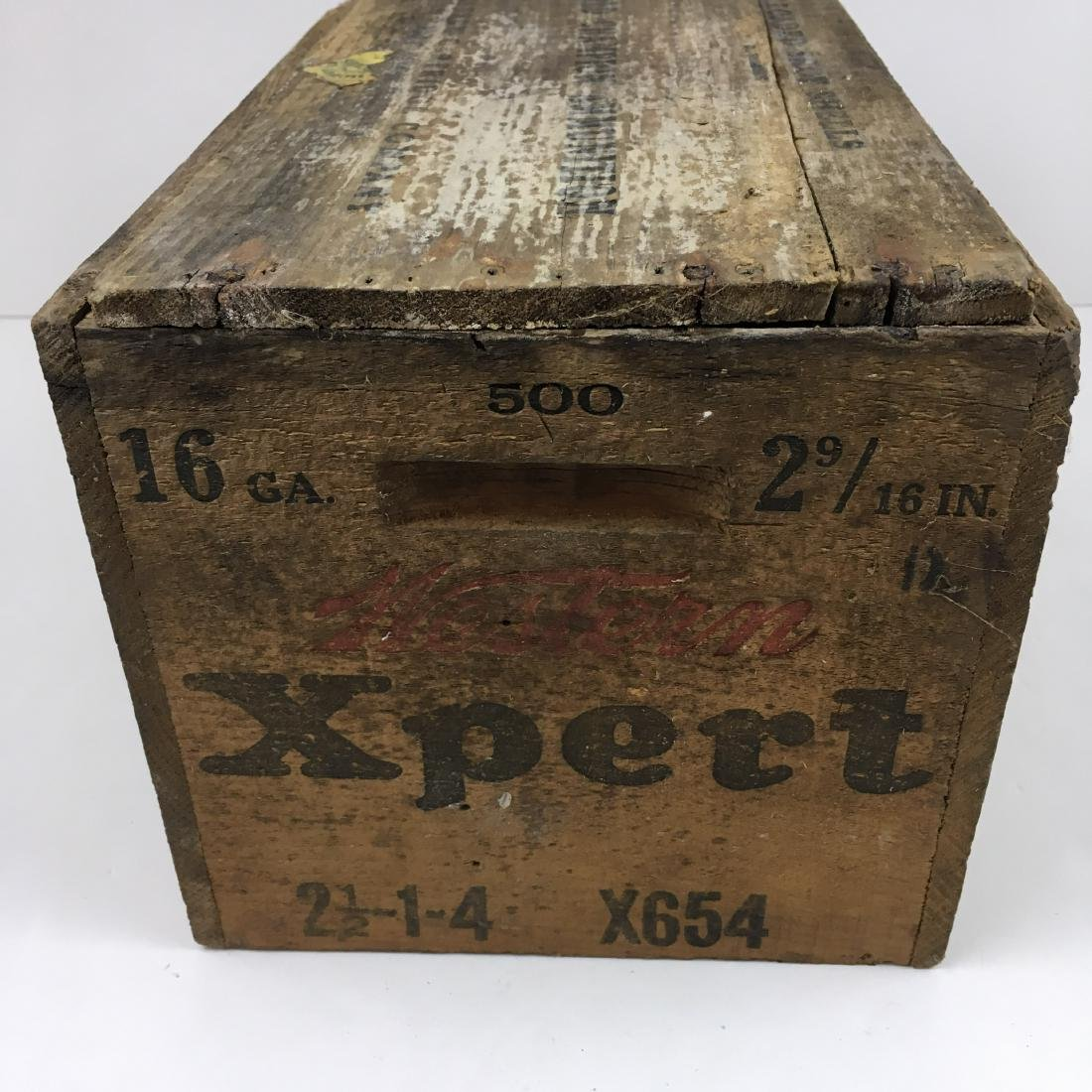 TWO WOODEN AMMO BOXES - 7