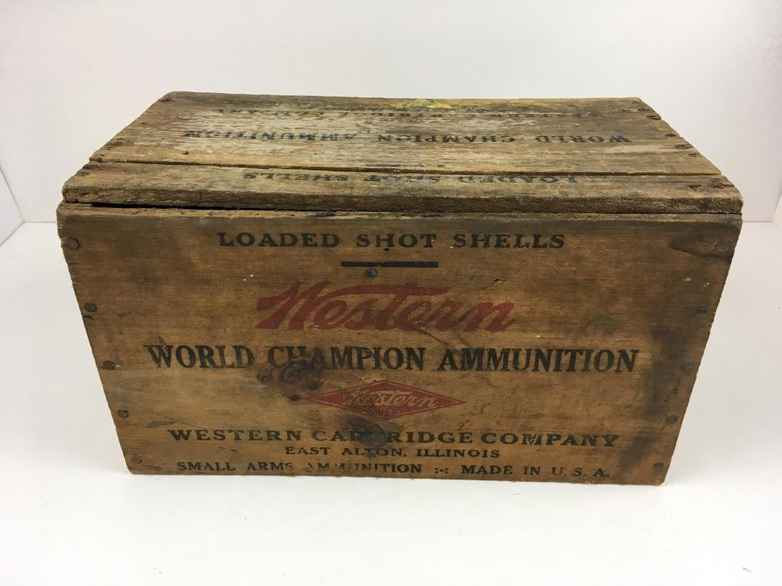 TWO WOODEN AMMO BOXES - 8