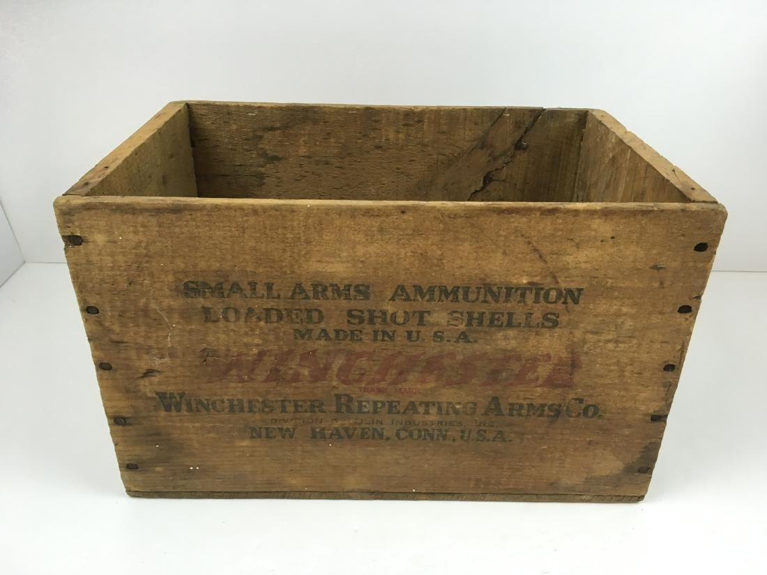 TWO WOODEN AMMO BOXES - 9