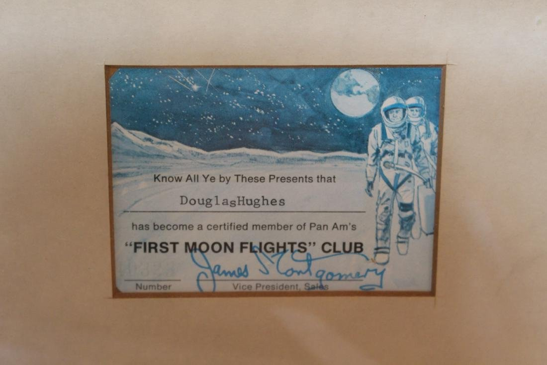 """RARE - """"FIRST MOON FLIGHTS"""" CLUB from PAN AM - 6"""