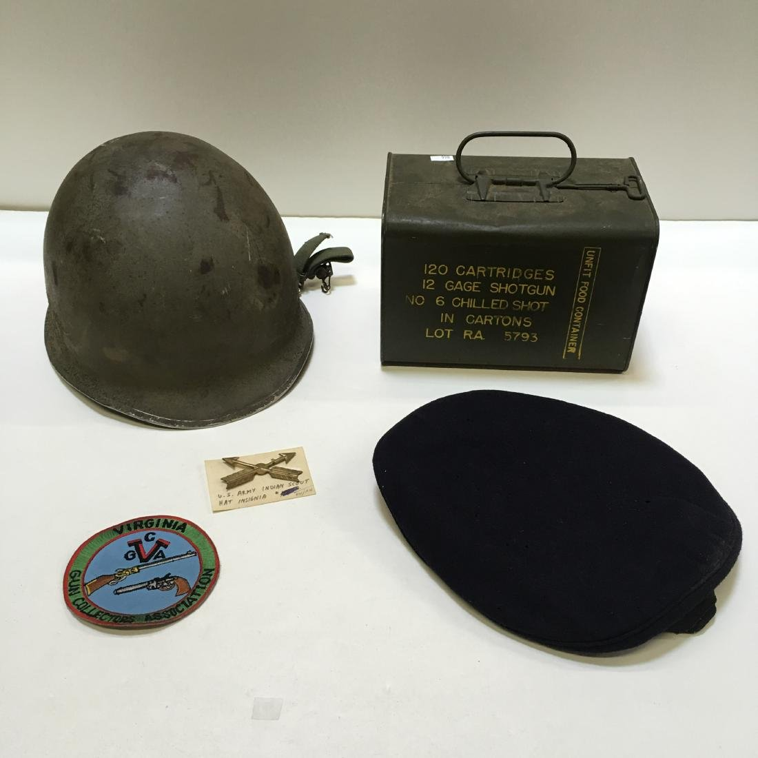 120 RD 12 G RA SPAM CAN AMMO +3 VTG MILITARY ITEMS