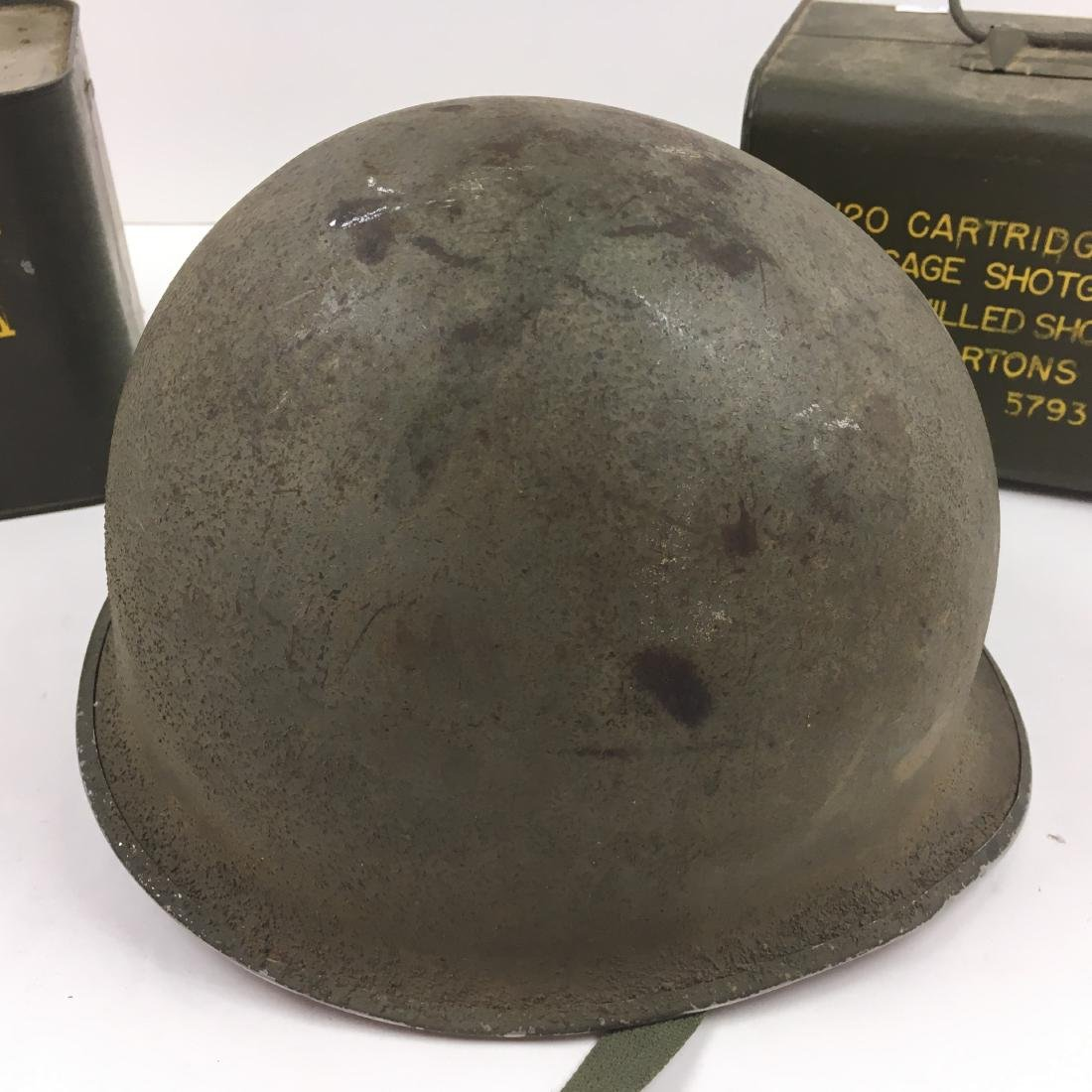 120 RD 12 G RA SPAM CAN AMMO +3 VTG MILITARY ITEMS - 3