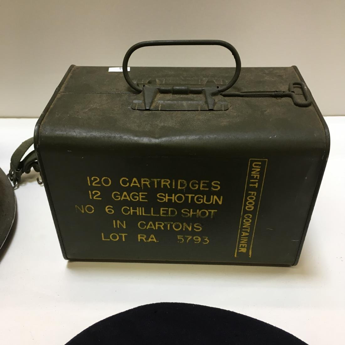 120 RD 12 G RA SPAM CAN AMMO +3 VTG MILITARY ITEMS - 6