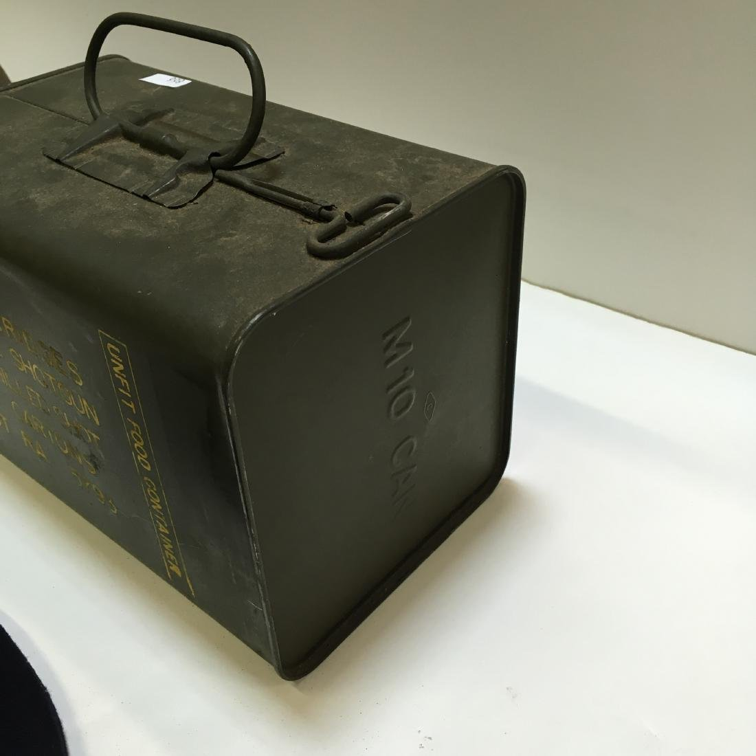 120 RD 12 G RA SPAM CAN AMMO +3 VTG MILITARY ITEMS - 7