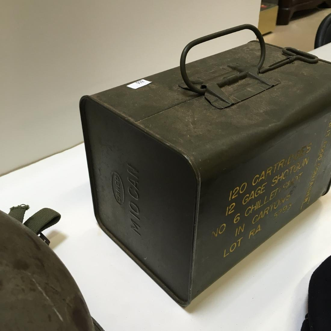 120 RD 12 G RA SPAM CAN AMMO +3 VTG MILITARY ITEMS - 8