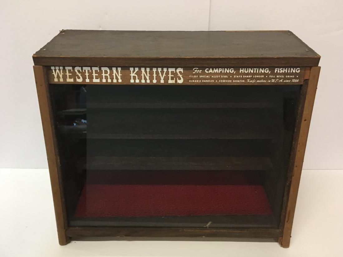 VINTAGE WESTERN KNIVES STORE DISPLAY CASE - 4