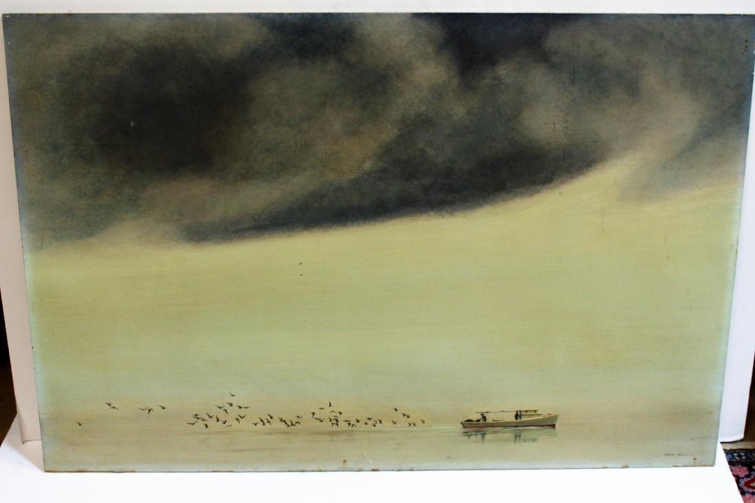 OIL ON BOARD BY ALLAN JONES