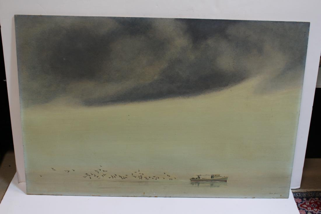 OIL ON BOARD BY ALLAN JONES - 2