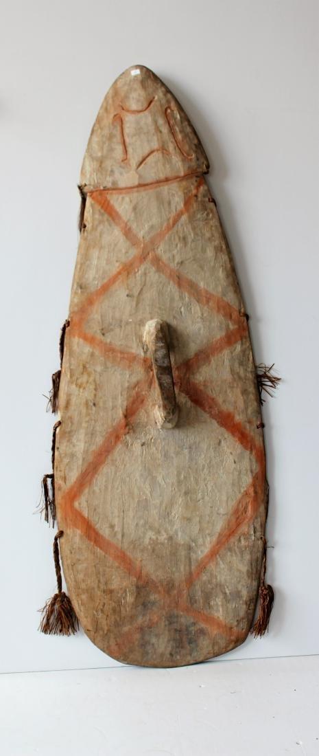 WEST PAPUA NEW GUINEA TRIBAL SHIELD - 7