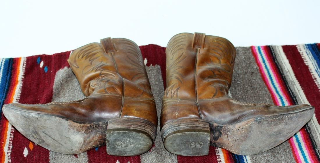 COWBOY HAT, DAN POST BOOTS, 2 BLANKET - 10