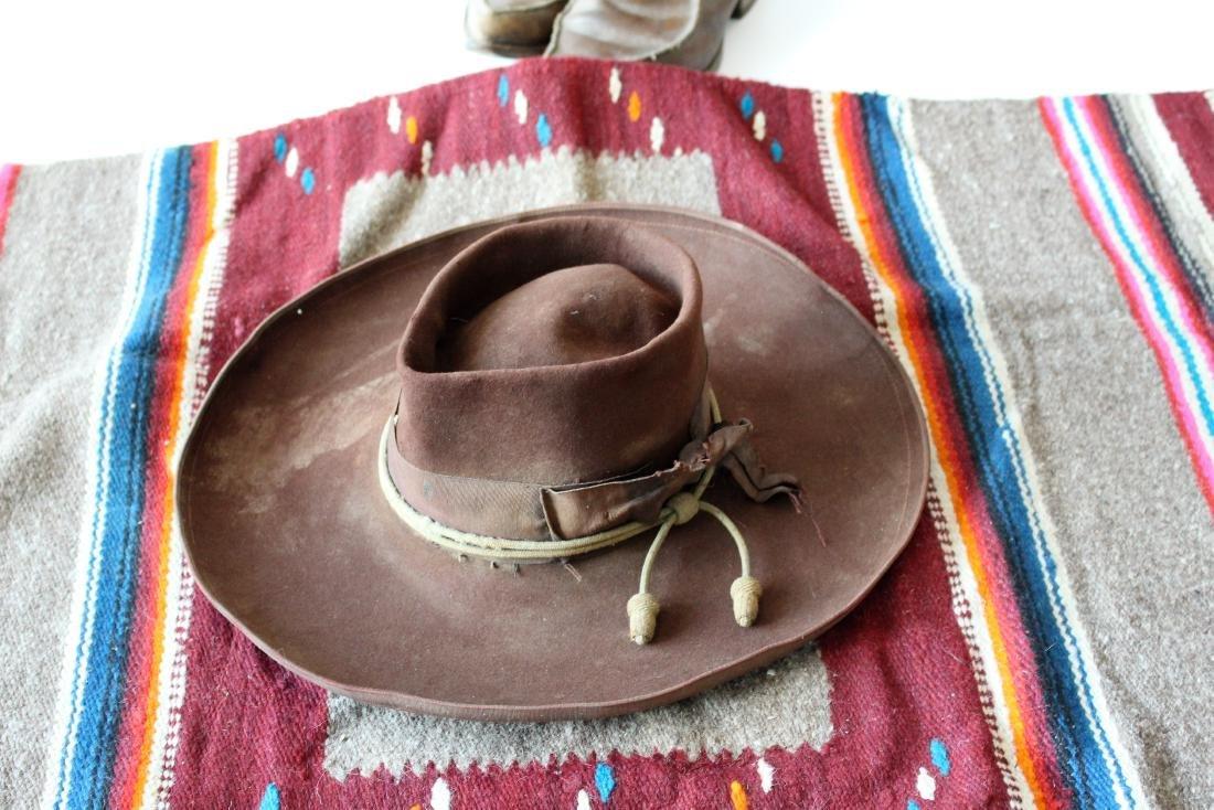 COWBOY HAT, DAN POST BOOTS, 2 BLANKET - 5