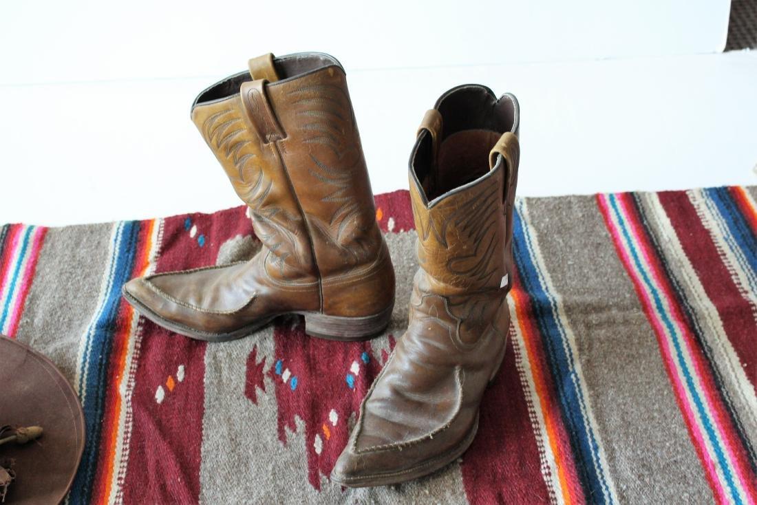 COWBOY HAT, DAN POST BOOTS, 2 BLANKET - 7