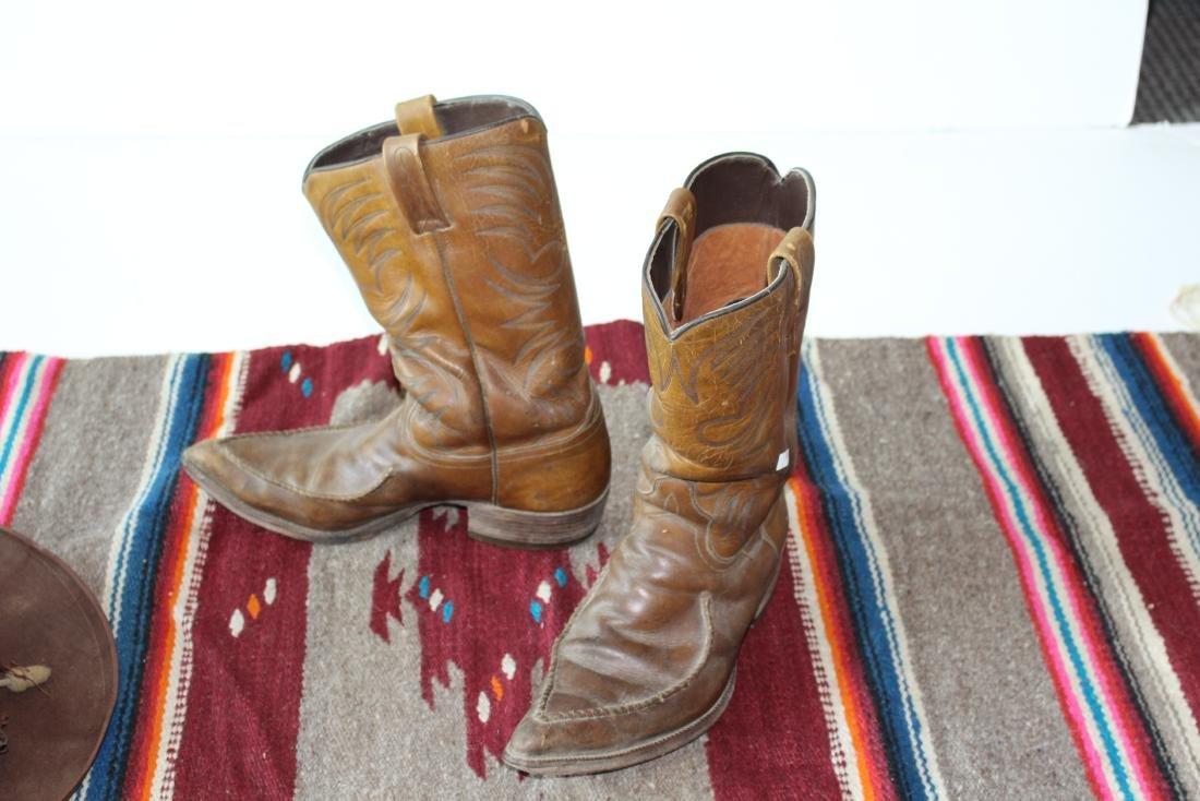 COWBOY HAT, DAN POST BOOTS, 2 BLANKET - 8