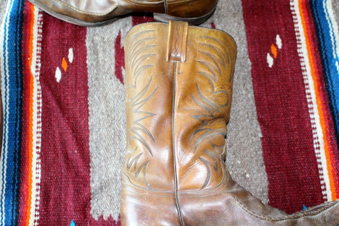 COWBOY HAT, DAN POST BOOTS, 2 BLANKET - 9