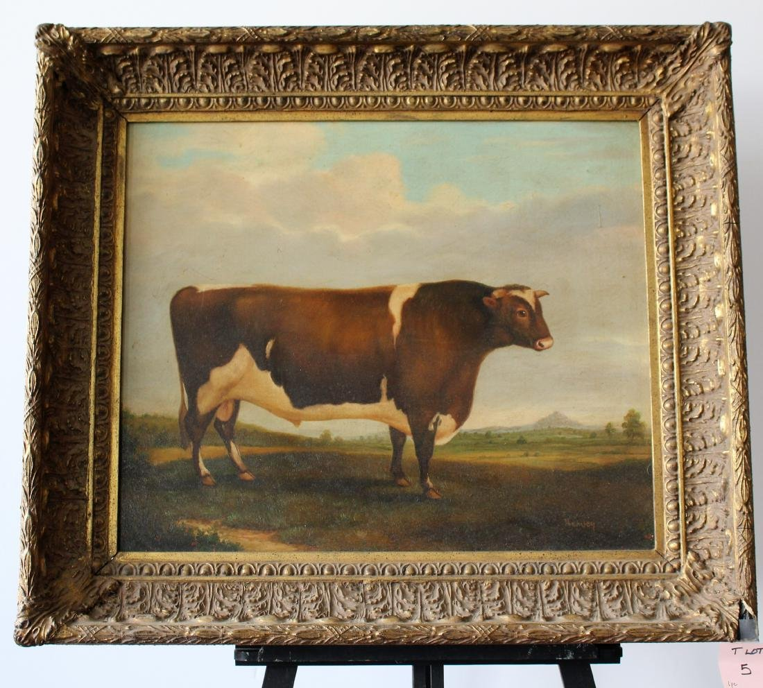 FOLK ART OF COW - SIGNED HARVEY