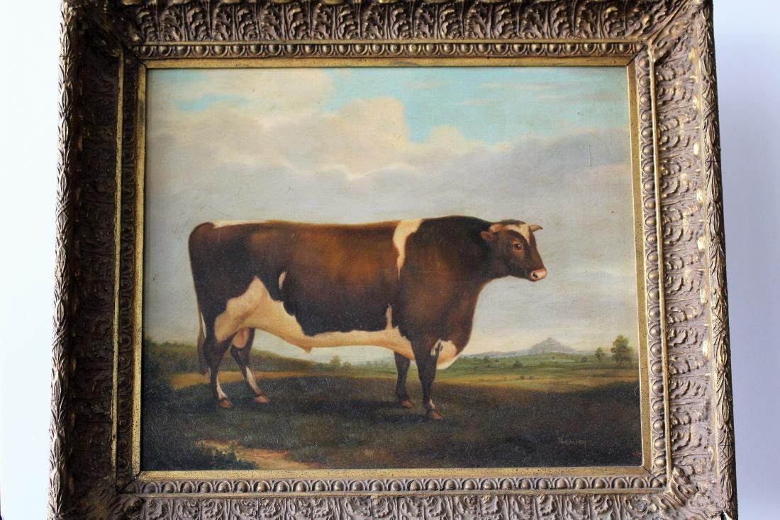FOLK ART OF COW - SIGNED HARVEY - 3