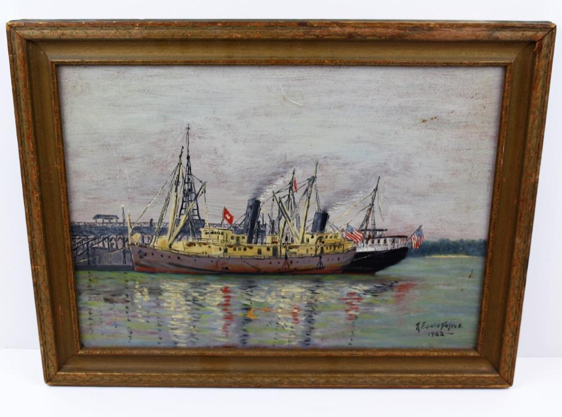 OIL ON BOARD - R. EDWIN PATTON